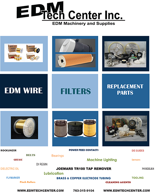 EDM Tech Center has the electrodes and supplies you need.